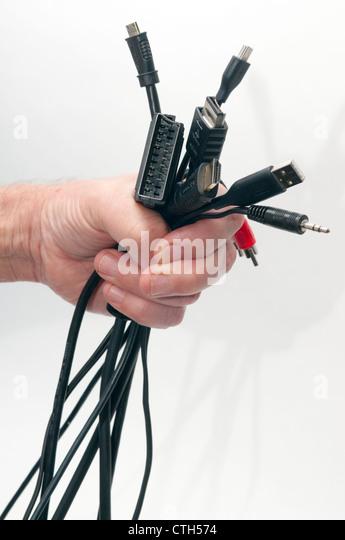Eine Handvoll Verbindungen Stockbild