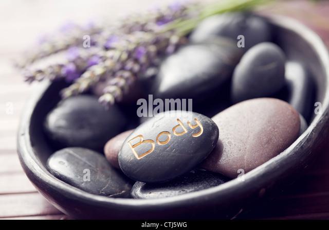 Hot Stone Stockbild