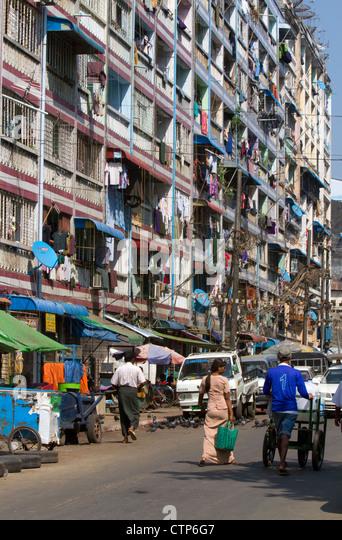 Ferienwohnungen in Yangon (Rangoon), Myanmar (Burma). Stockbild