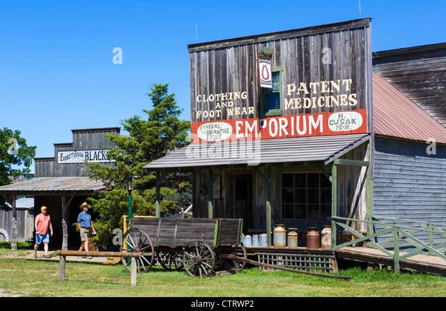Main Street in '1880 Town' westlichen Attraktion in Murdo, South Dakota, USA - Stock-Bilder