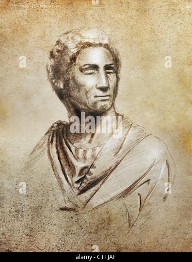 Brutus-Porträt Stockbild
