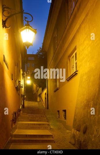 Warschauer Altstadt, Kamienne Schodki Street, Polen, Unesco Stockbild