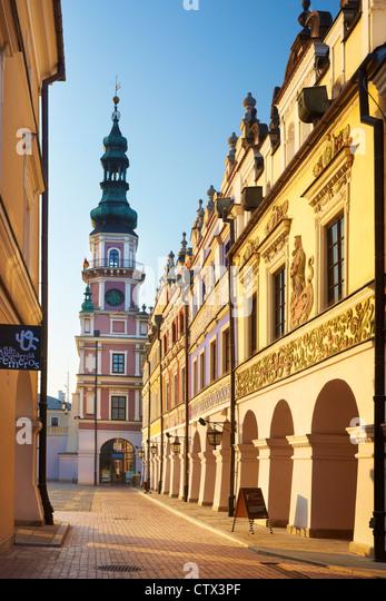 Zamosc, Rathaus, Unesco, Polen, Europa Stockbild