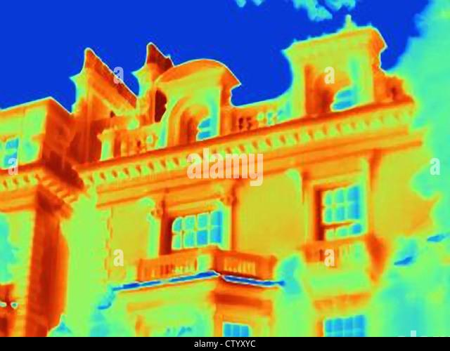 Wärmebild eines reich verzierten Gebäude Stockbild