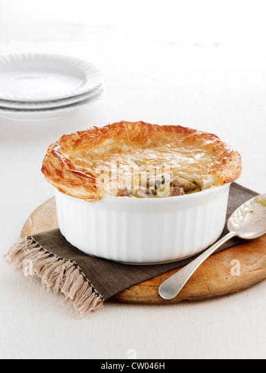 Schale gebackene Chicken Pie Stockbild
