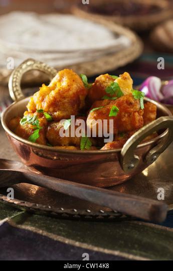 Gobi Manchurian indische chinesische Blumenkohl Gericht Indien Essen Stockbild