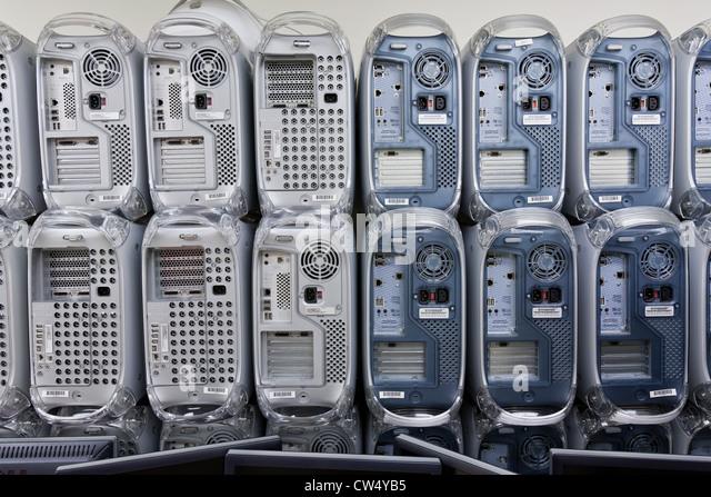 Veraltete corporate EDV-Anlagen für das recycling geplant. Stockbild