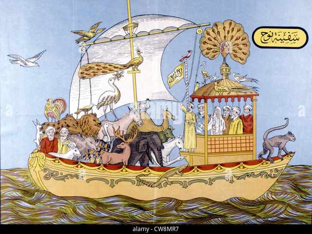 Arche Noah, Abbildungen des 19. Jahrhunderts Stockbild