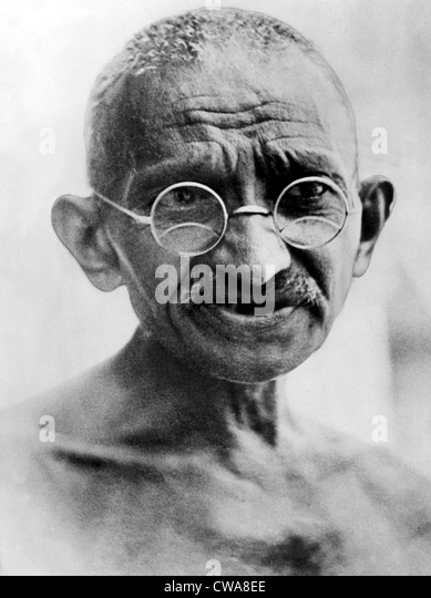 Mahatma Gandhi im Jahr 1931. Stockbild