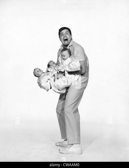 ROCK-A-BYE BABY, Jerry Lewis, 1958... Höflichkeit: CSU Archive / Everett Collection Stockbild