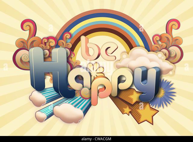 Werden glücklich illustration Stockbild