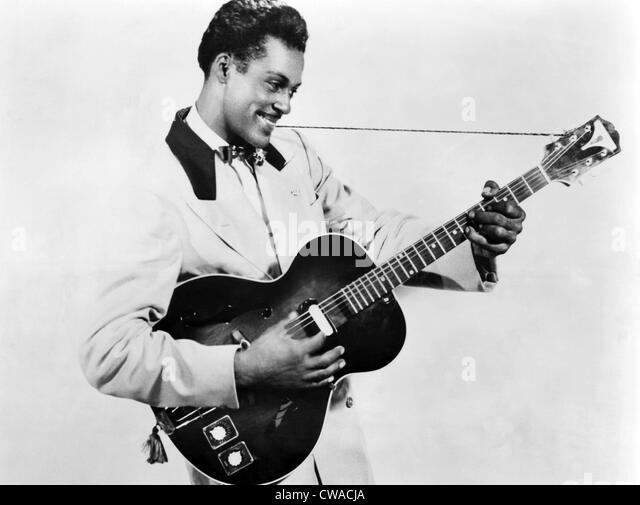 Chuck Berry, ca. 1950er-Jahre. Höflichkeit: CSU Archive/Everett Collection Stockbild