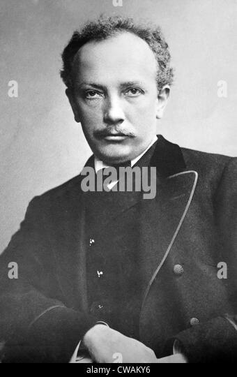 Richard Strauss (1864-1949), deutscher Musiker der Neuzeit, komponierte expressive Werk auf den früheren romantischen Stockbild