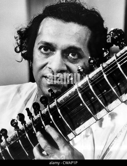 Ravi Shankar, Musiker, Komponist, Performer und Gelehrter, Porträt, 1960er Jahre. Höflichkeit: CSU Archive Stockbild
