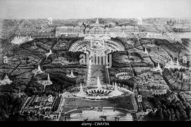 Das Schloss von Versailles, 19. Jahrhundert. Stockbild