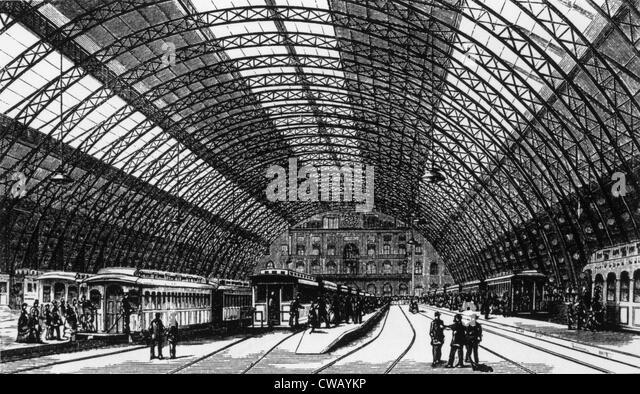 Grand Central Station, New York City, 19. Jahrhundert. Stockbild