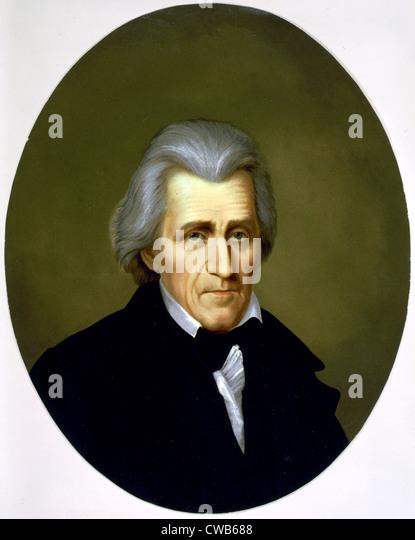 Andrew Jackson, Farblitho ca. Ende 19. Jh. Stockbild