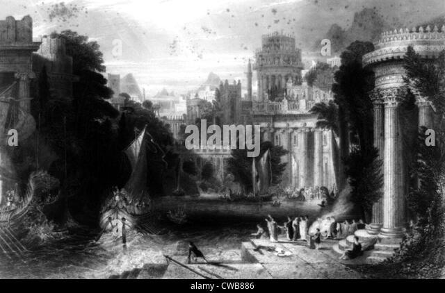 Antiken Griechenland, print datiert 1860 s Stockbild