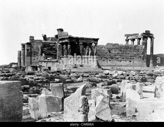 Athen, antiken Griechenland, Drucken vom 1860 s Stockbild