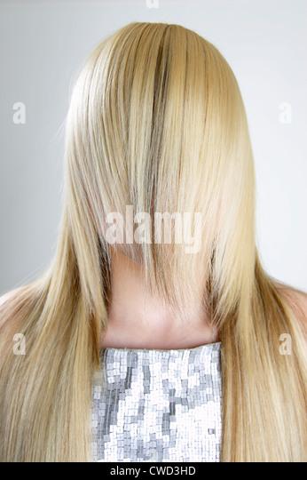 blonde Haare, Scham, Schüchternheit, verstecken, Haar - Stock-Bilder