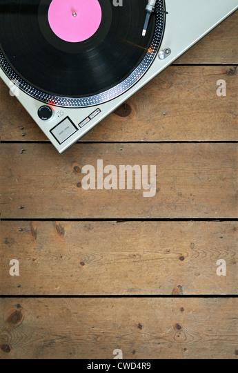 Musik, Plattenspieler Stockbild