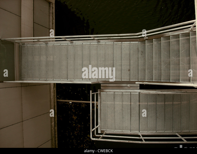 Treppe, Treppen, Edelstahl Stockbild