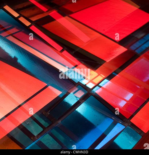 moderne Architektur, Fassade, Glasmalerei Stockbild
