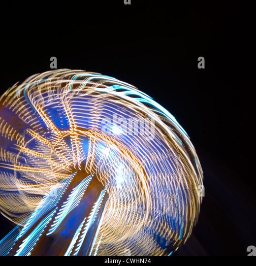 Geschwindigkeit, Licht, Bewegung, Geschwindigkeit, Karussell Stockbild
