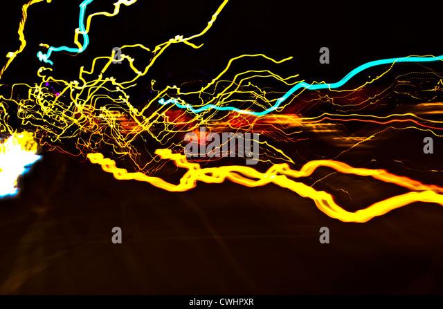 Lampen, abstrakt, Deckenstrahler Stockbild