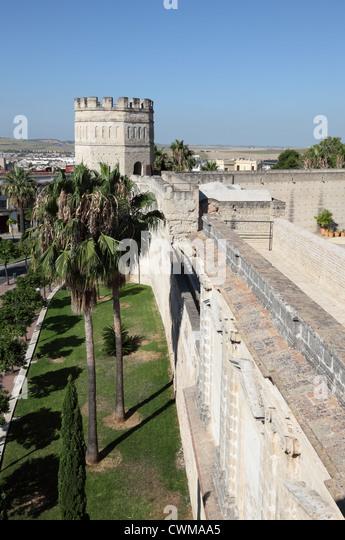 Maurische Alcazar in Jerez De La Frontera, Andalusien Spanien Stockbild
