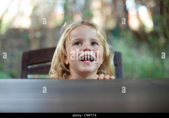 Kleines Mädchen Lachen Stockbild