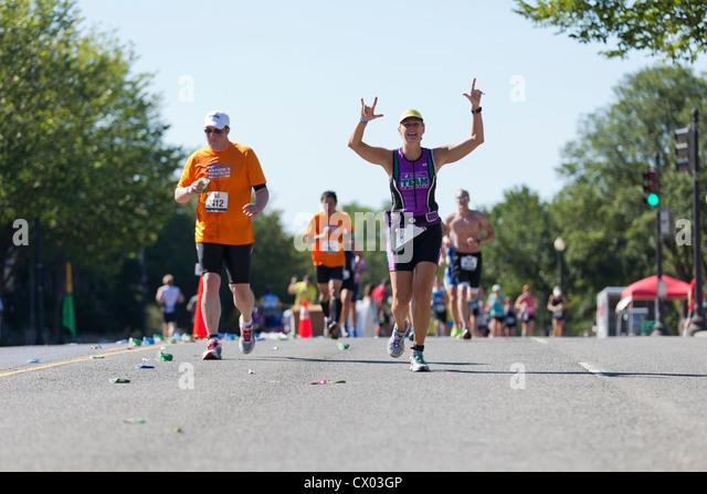 Marathonläufer Rennen Stockbild