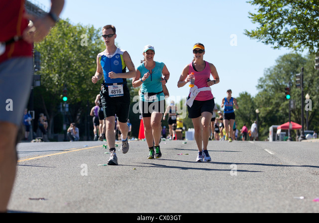 Ein Marathon-Läufer Stockbild