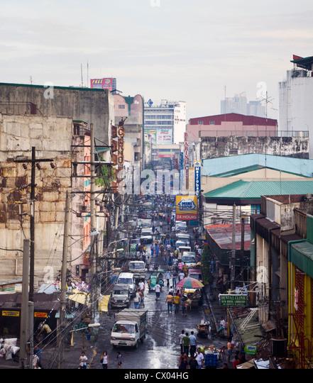 Manila Stadt gehört eine chaotische Szene. Foto ist auf den Philippinen getroffen. Stockbild