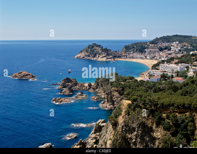 8135. Tossa de Mar, Costa Brava, Spanien Stockbild