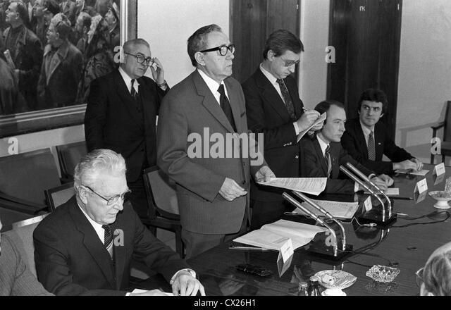 MOSKAU. UDSSR. Andrei Gromyko begrüßt die Mitglieder der uns Rat der jungen amerikanischen Politiker zu Stockbild