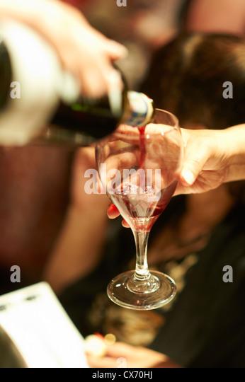 Wein in Strömen Stockbild
