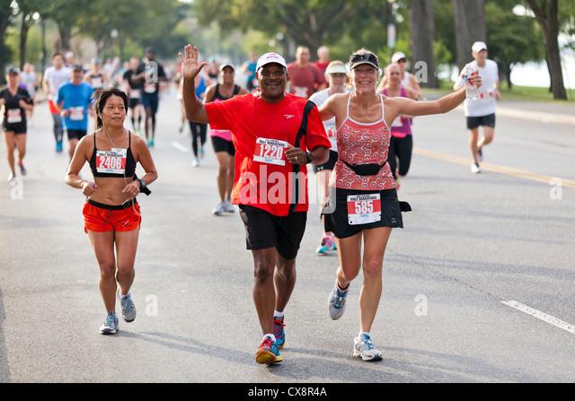 Marathon Läufer Stockbild