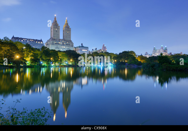 Der See im New Yorker Central Park Stockbild