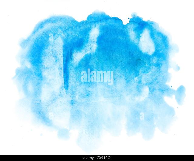 Aquarell Blau abstrakten Hintergrund Stockbild