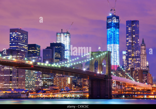 Brooklyn Brücke in New York City. Stockbild