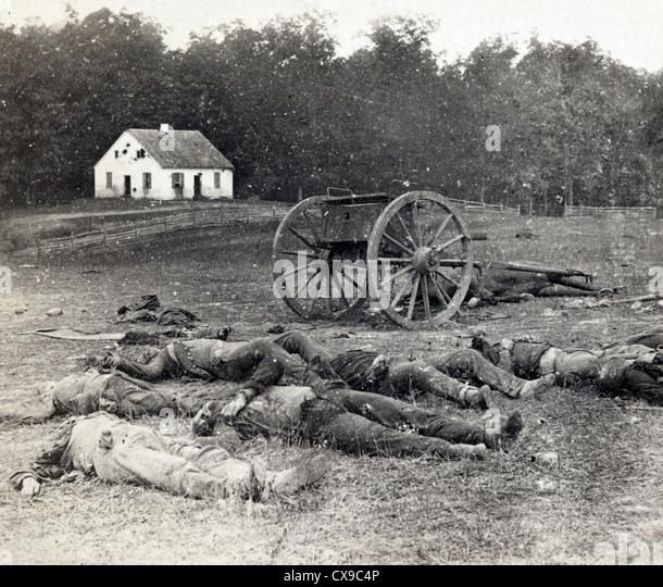 Schlacht von Antietam, auch bekannt als die Schlacht von Sharpsburg, Amerikanischer Bürgerkrieg Stockbild