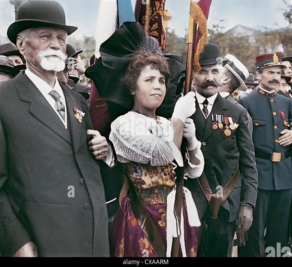 Tag des Waffenstillstands, Paris, Frankreich, 1918 Stockbild