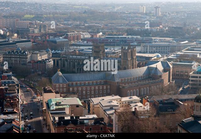 Kathedrale und Hafen, Bristol, England, Großbritannien, Vereinigtes Königreich, Europa Stockbild