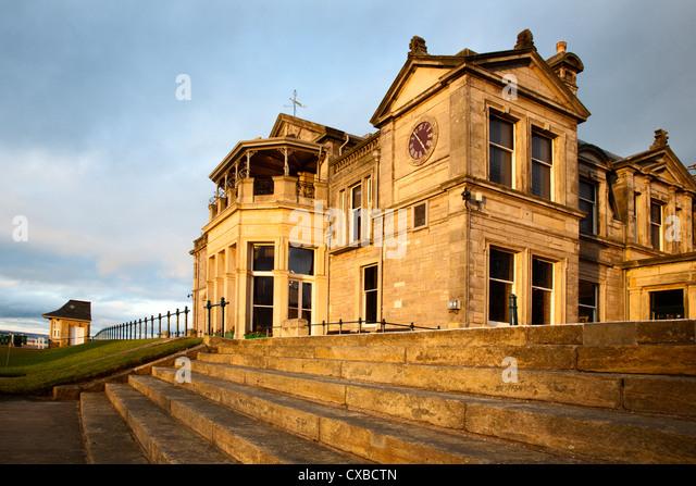 Royal and Ancient Golf Club, St. Andrews, Fife, Schottland, Vereinigtes Königreich, Europa Stockbild