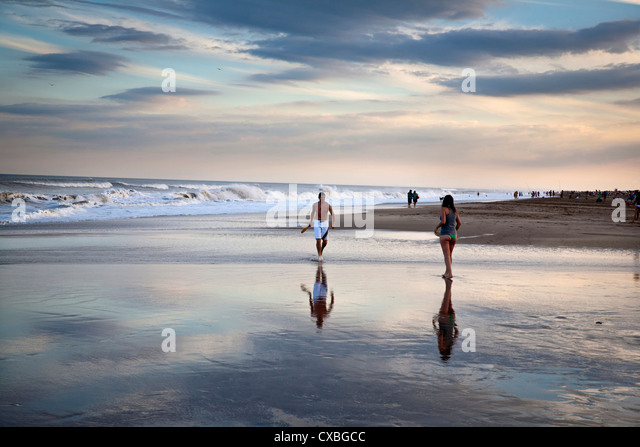 Strand, Mar de Las Pampas, Argentinien. Stockbild