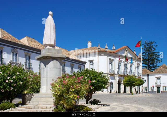 Rathaus, Faro, Algarve, Portugal, Europa Stockbild