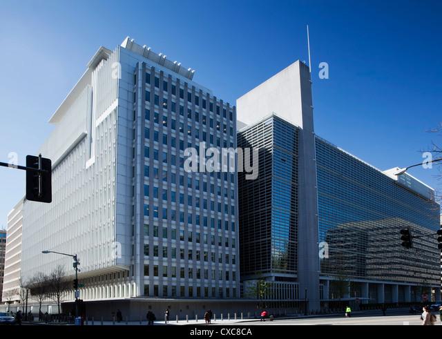 Die Welt Gruppe Bankgebäude Gehäuse der internationalen Bank für Wiederaufbau und Entwicklung, Washington Stockbild