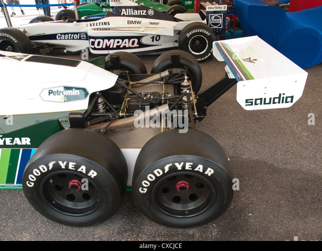 Williams 6 Rad F1 Rennwagen Goodwood Festival Of Speed England UK 2012 Stockbild