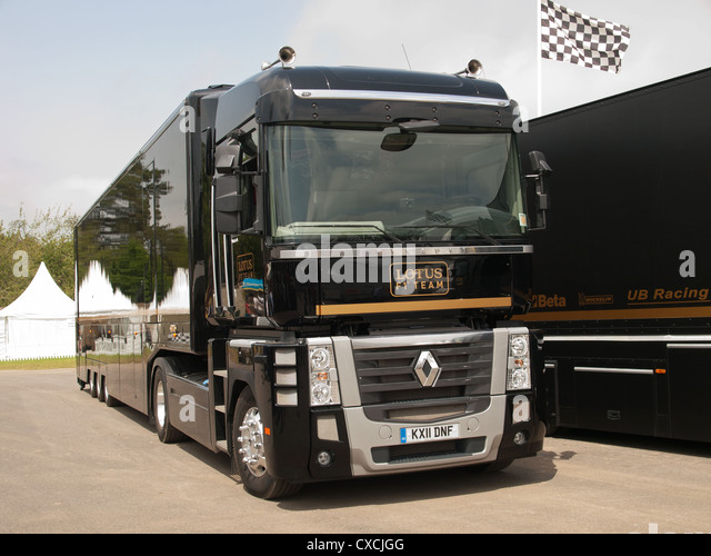 Lotus F1 Team LKW Goodwood Festival Of Speed England UK 2012 Stockbild